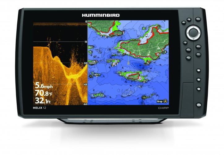 HELIX 12cx CHIRP DI GPS GN2- Fischfinder (Down Imaging) und Seekartenplotter