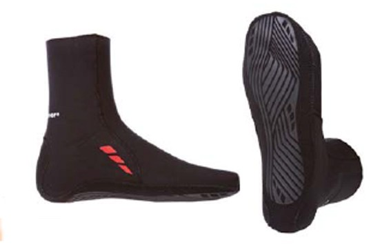 Phase 2 Slate Socken, 6359, Größe 4, schwarz, 3 mm Neopren