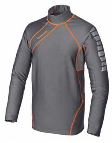 Phase 2 Control Top Shirt, 6907, Gr. L, grau/orange