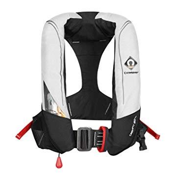 CrewFit 180N PRO Automatic, weiß/rot, Harness und Notlicht