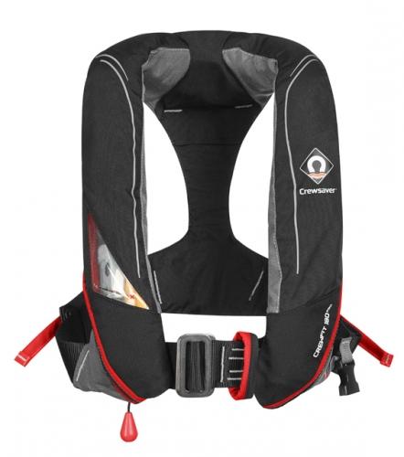 CrewFit 180N PRO Automatic, schwarz/rot, Harness und Notlicht