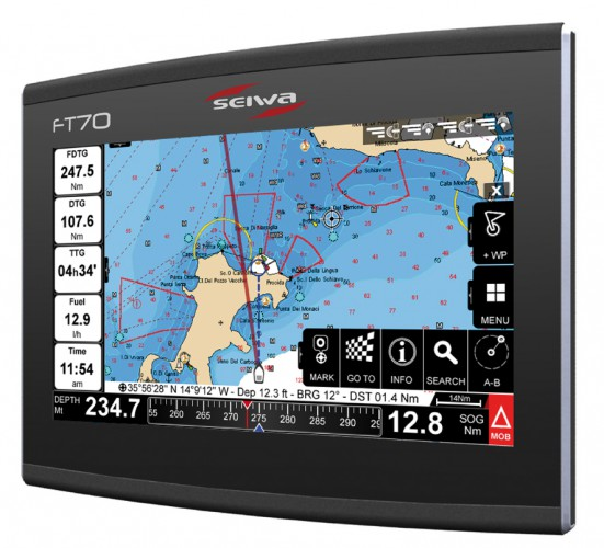 FT70 Multifunktionsanzeige/Seekartenplotter mit Touchscreen