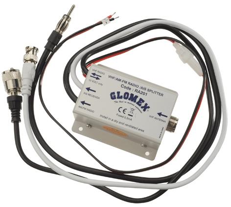 GLOMEX RA201, UKW/AM/FM/AIS-Weiche (nur Empfänger)