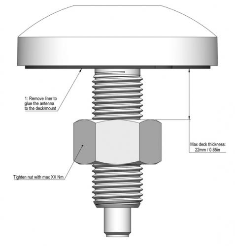 AC Antennas GPS, Galileo, BaiDou, Glonass-Antenne