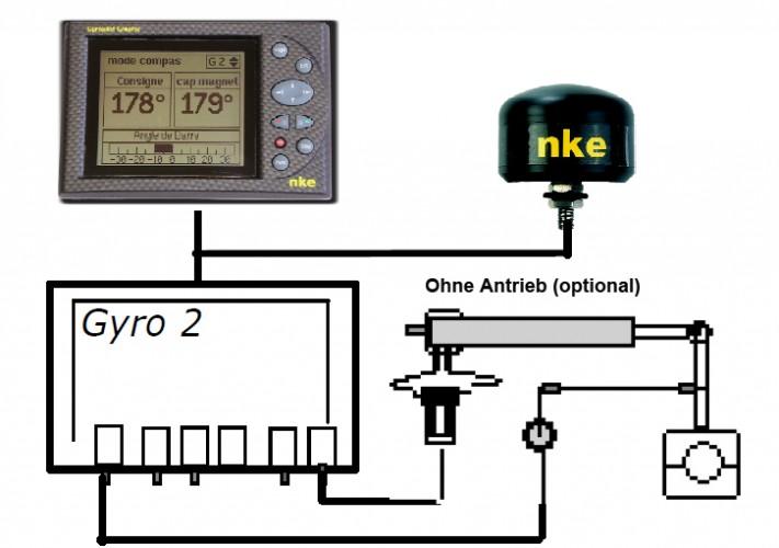 NKE Gyropilot Electronic System+Display