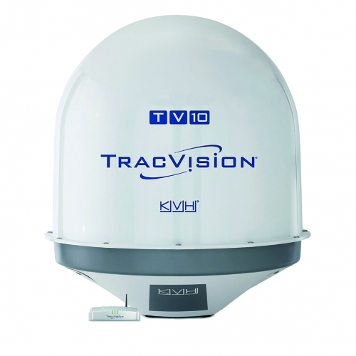 KVH TracVision TV10 mit IP-TV-Hub B & autom. Skew-Einstellung