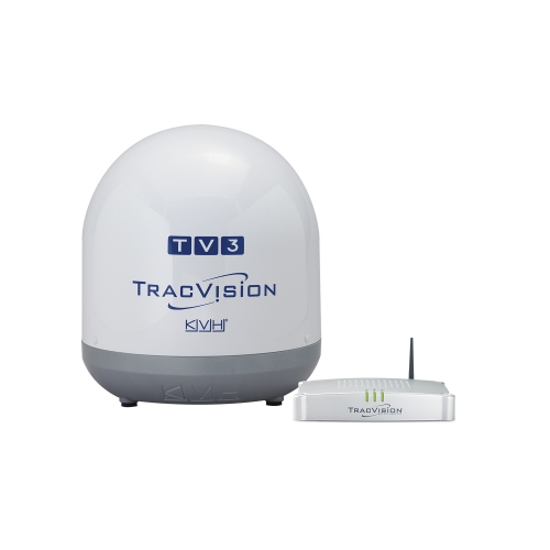 KVH TracVision TV1 Single-LNB, mit IP-TV-Hub B
