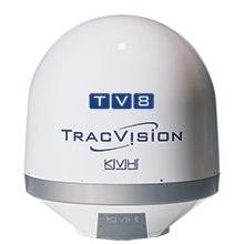 KVH TracVision TV8 mit IP-TV-Hub B & autom. Skew-Einstellung