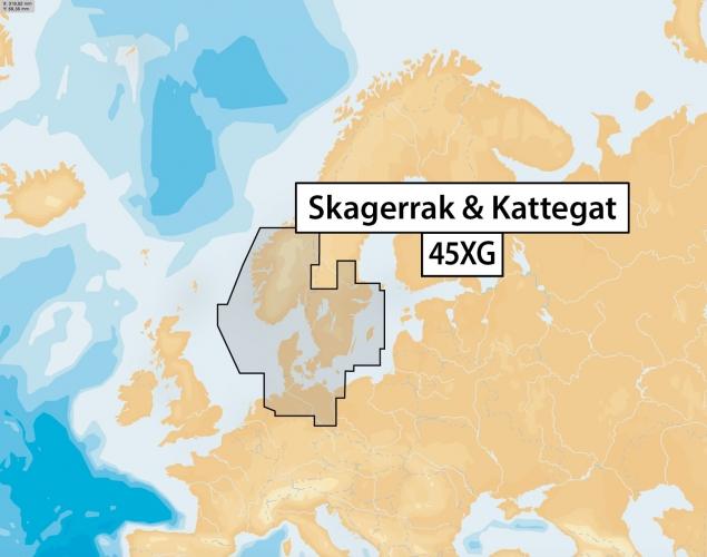 NAVIONICS+ SD/MSD, Preloaded 45XG Skagerrak & Kattegat