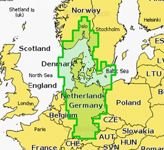 Navionics Platinum Seekarte Gebiet 15P+ Oslo bis Deutschland