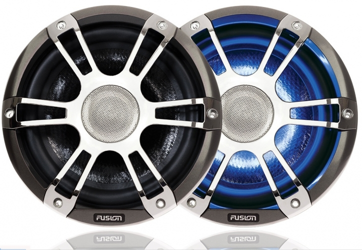 "FUSION SG-CL77SPC, 7,7"" (19,56 cm) Lautsprecher, 280 Watt, chrom mit LED"