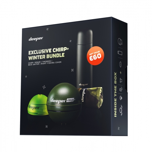 Deeper CHIRP+ - Winterbundle - Smart Sonar mit WIFI & GPS, für iOS & Android