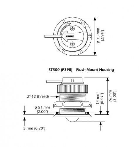 P398 Installations-Kit für ST300 Geber