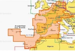 NAVIONICS+ SD/MSD, Preloaded 46XG Frankreich, Spanien, Niederlande & EU-Binnen