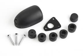 DS-H6-BLK, Kabeldurchführung Kunststoff, schwarz