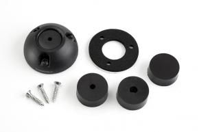 DS21A-P-BLK, Kabeldurchführung Kunststoff, schwarz