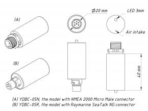 Yacht Devices Digital Barometer YDBC-05NT